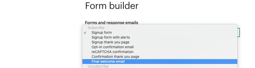 imagen de la opcion del final welcome email