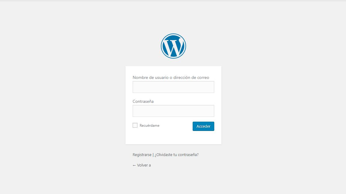 imagen de wordpress login