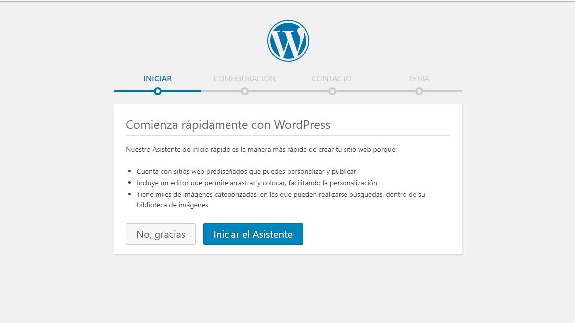 imagen configuración de wordpress