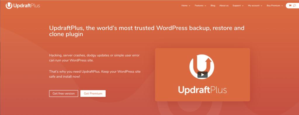 imagen de updraft plus para hacer respaldos, plugin esencial para WordPress