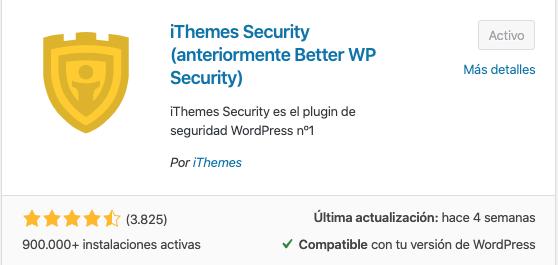 imagen del plugin iThemes Security