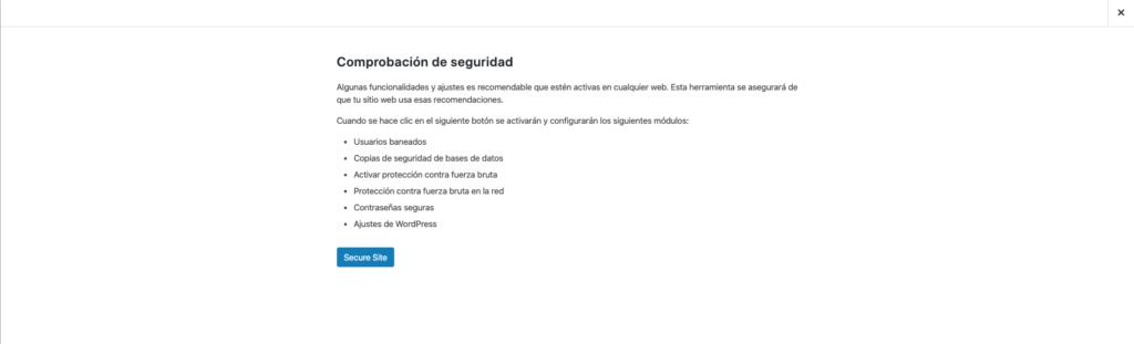 imagen configuración de itheme security
