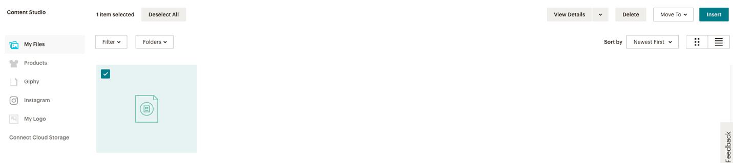 imagen de archivos de mailchimp