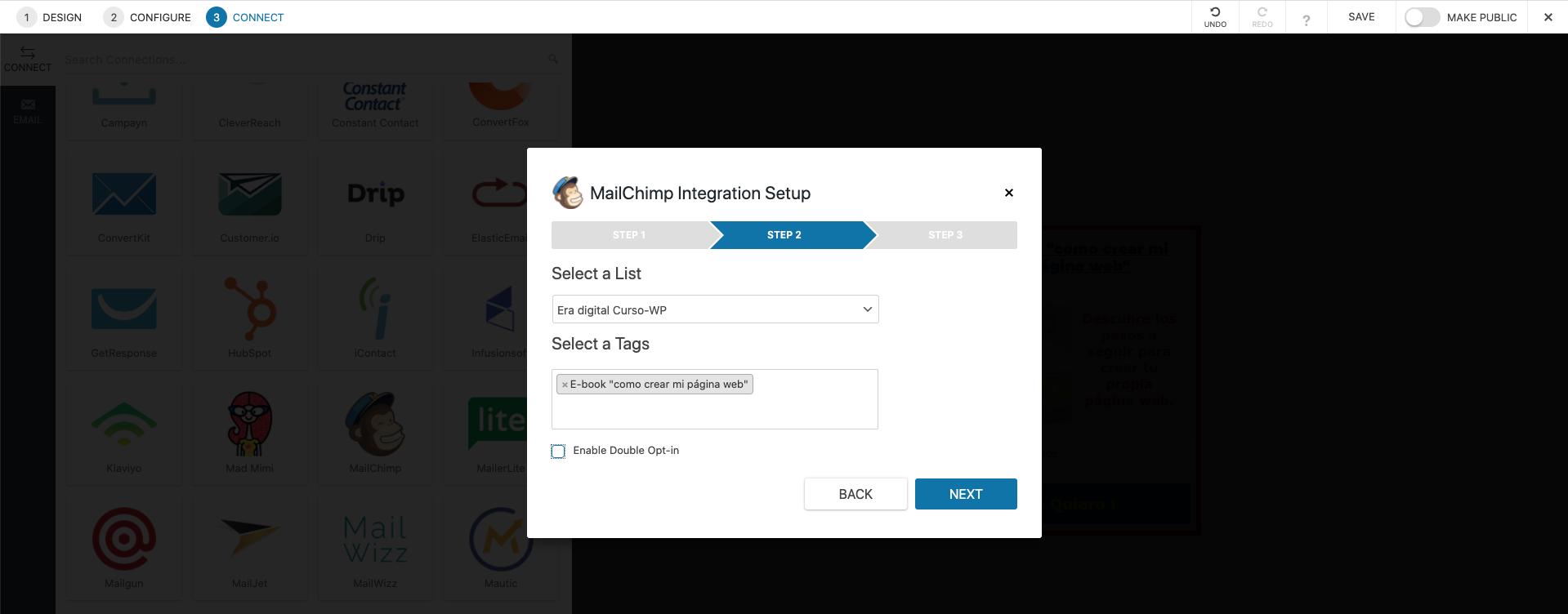 imagen de mailchimp integrando la API Key