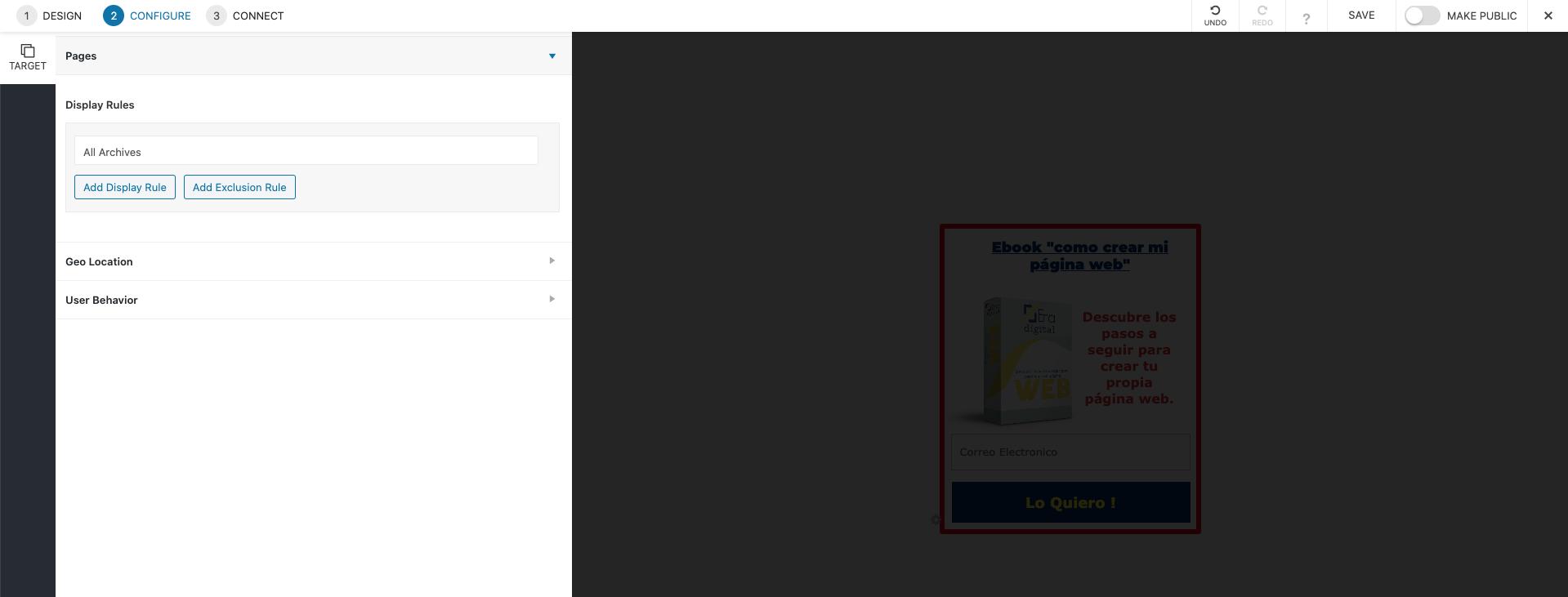 imagen de convert pro configuración de los ajustes