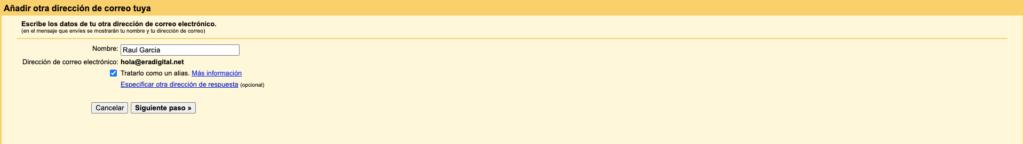 Imagen de la cuenta personalizada en Gmail