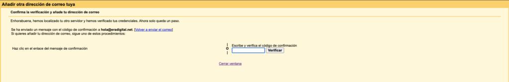 Imagen de configuración de la cuenta personalizada en Gmail