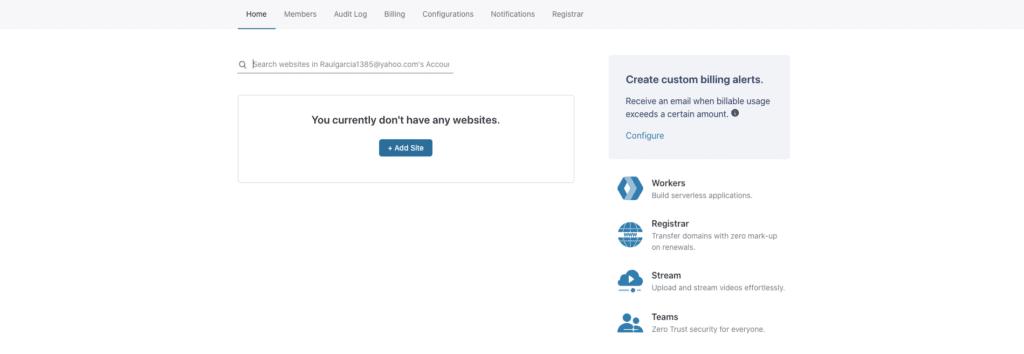 Imagen de Cloudflare ajustes de configuración