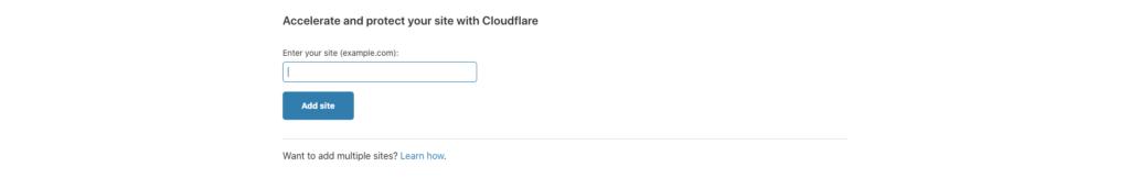 Imagen de la configuración de Cloudflare